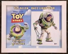 TIM ALLEN- Buzz Lightyear- Toy Story signed custom framed display- Beckett COA