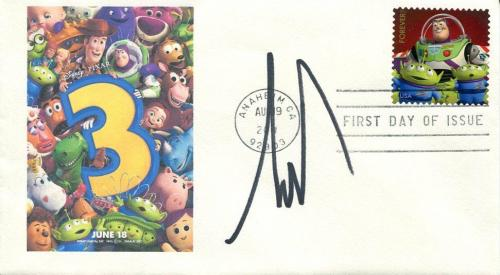 Tim Allen Disney Buzz Lightyear Voice Rare Toy Story 3 Signed Autograph FDC