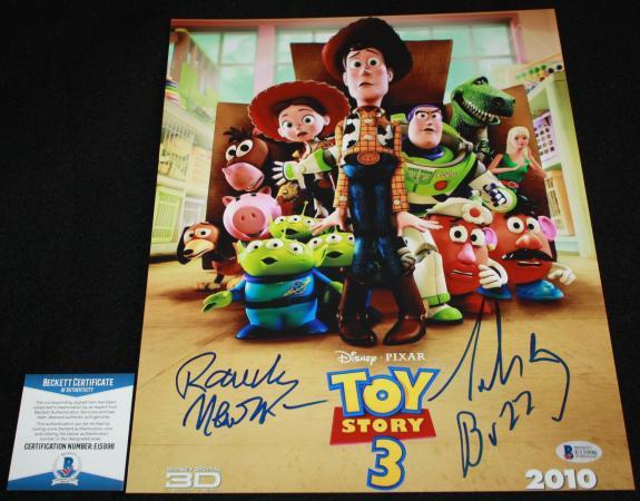 Tim Allen Randy Newman signed 11 x 14, Toy Story, Disney, Beckett BAS