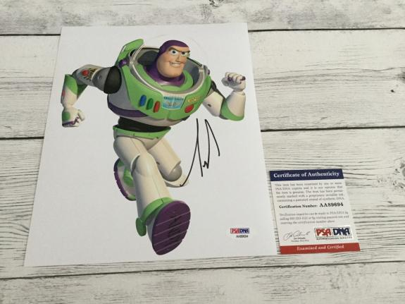 Tim Allen Signed 8x10 Photo PSA DNA COA Buzz Lightyear Toy Story Autographed b