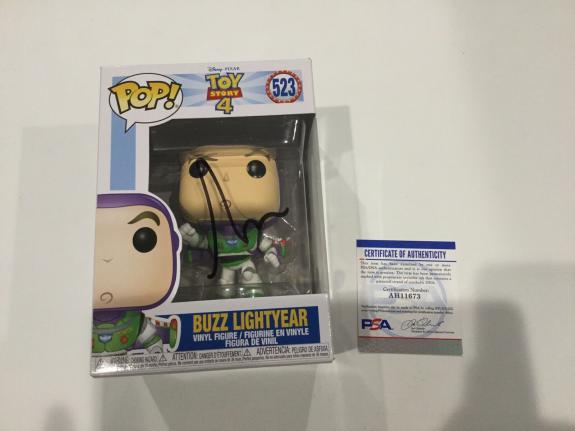 Tim Allen Signed Autographed Buzz Lightyear Toy Story Funko Pop PSA DNA COA b