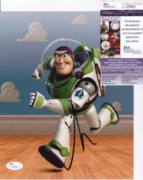 TIM ALLEN Signed Buzz Lightyear  TOY STORY 8x10 photo + JSA COA V37862