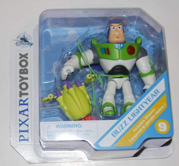 TIM ALLEN signed (TOY STORY) Buzz Lightyear PIXAR Toybox FIGURE *PROOF* W/COA
