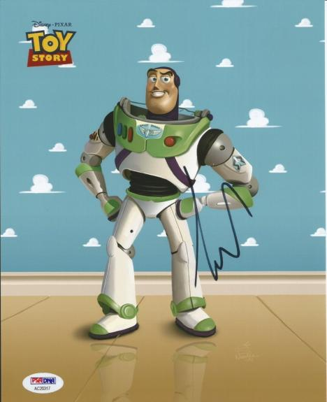 Tim Allen Toy Story 1 2 3 Buzz Lightyear Signed 8x10 Photo PSA/DNA COA #2