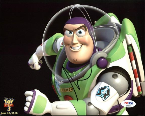 Tim Allen Toy Story Buzz Lightyear Signed 8X10 Photo PSA/DNA #Z92084
