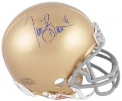 Tim Brown Notre Dame Fighting Irish Autographed Mini Helmet - Mounted Memories