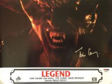 "TIM CURRY ""Darkness"" Legend Signed 9 1/2 x 13 Lobby Card PSA/DNA COA Autograph"