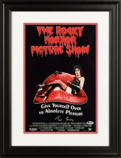 "Tim Curry Framed Autographed 11"" x 17"" The Rocky Horror Picture Show Movie Poster - Beckett COA"