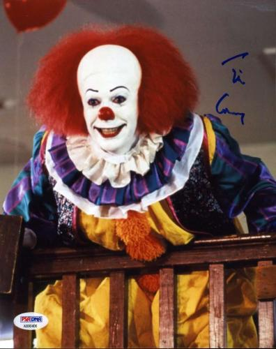 TIM CURRY IT Hand Signed PSA DNA COA Pennywise 8X10 Photo Autograph Authentic