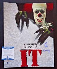 Tim Curry IT Movie Pennywise Signed Autographed 11x14 Photo BAS Certified #4