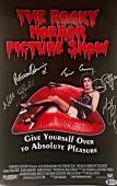 TIM CURRY Meat Loaf Cast Signed Rocky Horror Picture Show Poster BAS AUTO B