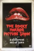 TIM CURRY Meat Loaf Cast Signed Rocky Horror Picture Show Poster Beckett BAS COA