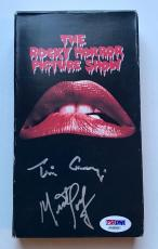 Tim Curry & Meatloaf Signed The Rocky Horror Picture Show VHS Tape PSA/DNA COA