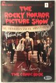 TIM CURRY, Nell Campbell & Patricia Quinn Rocky Horror SIGNED COMIC BAS COA