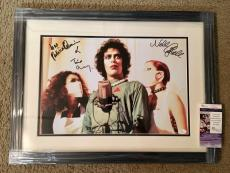 Tim Curry /Nell Campbell /Patricia Quinn Signed 12x18 Photo Framed JSA Rocky Hor