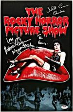 Tim Curry Patricia Quinn Campbell signed Auto Rocky Horror Picture w/ PSA/DNA