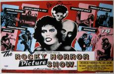 Tim Curry Patricia Quinn Campbell Signed Auto Rocky Horror Show Photo 11x17 Psa