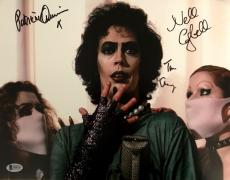Tim Curry Patricia Quinn Campbell Signed Rocky Horror 11x17 Photo BAS COA