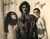 Tim Curry Patricia Quinn Campbell Signed Rocky Horror 11x17 Photo B&W BAS COA