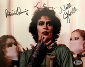 Tim Curry Patricia Quinn Campbell Signed Rocky Horror 8x10 Photo BAS BECKETT COA