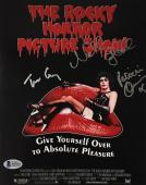 Tim Curry Patricia Quinn Campbell Signed Rocky Horror 8x10 Photo BAS COA A