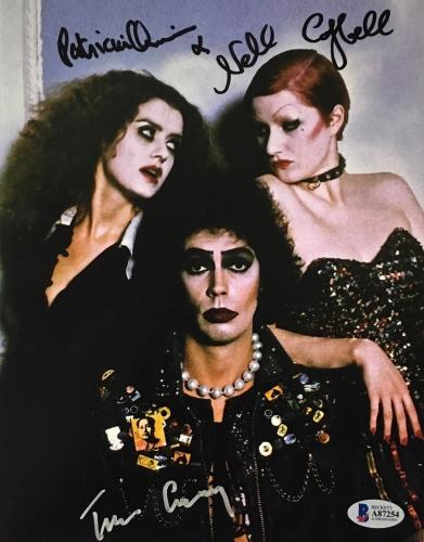 Tim Curry Patricia Quinn Campbell Signed Rocky Horror 8x10 Photo BAS COA B