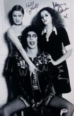 TIM CURRY Patricia Quinn & Nell Campbell ROCKY HORROR Signed 11x17 Photo PSA COA