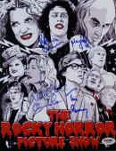 Tim Curry Patricia Quinn Campbell Signed Rocky Horror Show 8X11 Photo PSA V02689