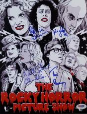 Tim Curry Patricia Quinn Campbell Signed Rocky Horror Show 8X11 Photo PSA V02689