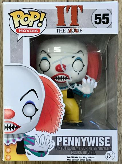 TIM CURRY -PENNYWISE- (IT) signed FUNKO POP figure #55