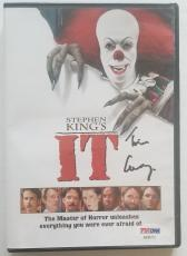 "TIM CURRY Pennywise Signed Stephen King ""IT"" DVD PSA/DNA COA Autograph"