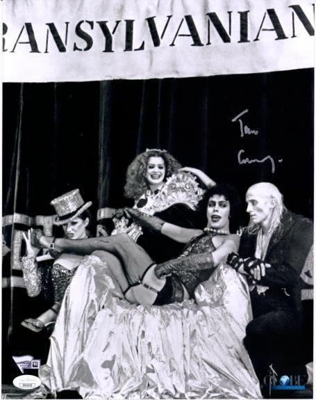 "Tim Curry Rocky Horror Picture Show Autographed 11"" x 14"" Photograph - JSA"