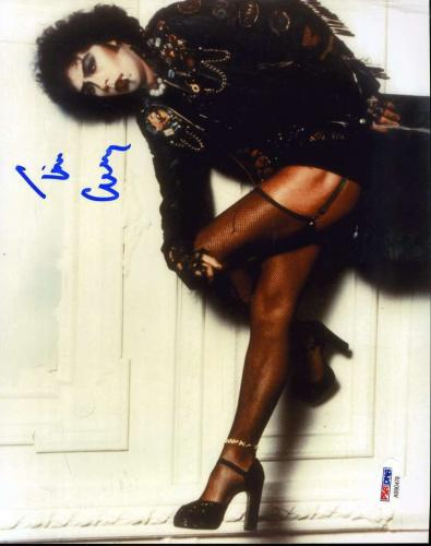 TIM CURRY ROCKY HORROR PICTURE SHOW Hand Signed PSA DNA COA 8x10 Photo Autograph