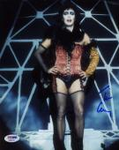 TIM CURRY ROCKY HORROR PICTURE SHOW Signed PSA DNA COA 8x10 Photo Autographed
