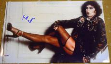 Tim Curry Rocky Horror Psa/dna Cert Hand Signed 15x10 Photo Authentic Autograph