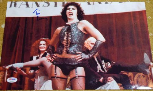 Tim Curry Rocky Horror Psa/dna Coa Hand Signed 15x10 Photo Authentic Autograph