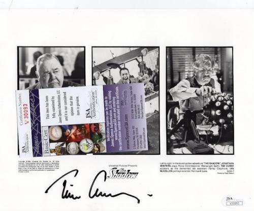 """Tim Curry Screen Actor """"the Shadow"""" Signed Auto 8x10 Photo Jsa V30093"""