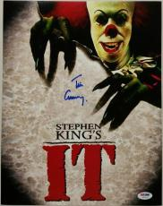 Tim Curry Signed 11x14 Photo IT w/ PSA/DNA COA Actor Stephen King's It Movie