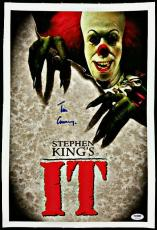 Tim Curry Signed 11x17 Canvas Photo IT w/ PSA/DNA COA Actor Stephen King's It