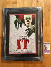 Tim Curry Signed 12x18 Photo JSA Coa IT Movie Framed