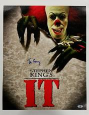 TIM CURRY Signed 16x20 Canvas Photo Stephen King's It AUTO w/ Beckett BAS Coa