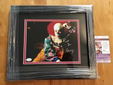 Tim Curry Signed 8x10 Photo JSA Coa IT Movie Framed
