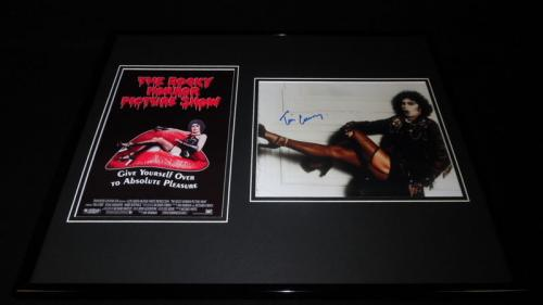 Tim Curry Signed Framed 16x20 Rocky Horror Picture Show Photo Set JSA