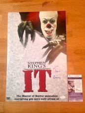 Tim Curry Signed IT 12x18 Movie Poster Photo JSA Coa Stephen King