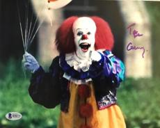 TIM CURRY Signed IT PENNYWISE 8x10 Photo Beckett BAS COA B