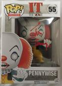 TIM CURRY Signed IT Pennywise Red Paint Pen Funko Pop Figure Beckett BAS COA