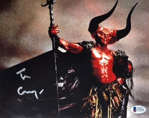 TIM CURRY Signed Legend Darkness 8x10 Photo Autograph Beckett BAS COA Proof N