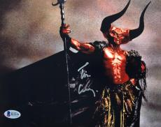 TIM CURRY Signed Legend Darkness 8x10 Photo Autograph Beckett BAS COA Proof U