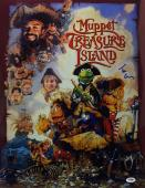 Tim Curry Signed Muppet Treasure Island Chrome/Metallic 16x20 Photo PSA