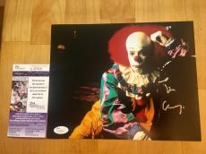 Tim Curry Signed Pennywise 8x10 Photo JSA Coa IT The Movie